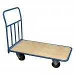 Carro transporte 55x114 cm azul/natural