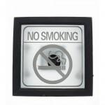 Cartel No smoking luminoso 30x30 cm natural-Decoración todo año