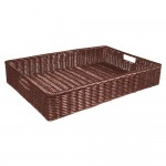 Cesta rectangular 40x30x10 cm chocolate