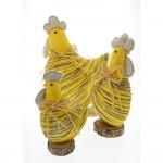 Gallina base 23 cm amarillo/gris